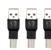 USB A male to B male adapters